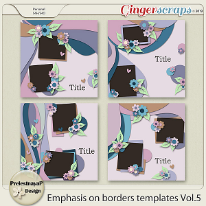 Emphasis on borders Templates Vol.5