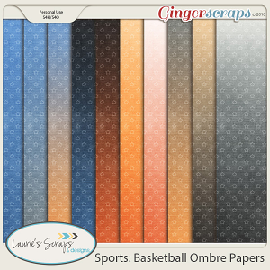 Sports: Basketball Ombre Papers