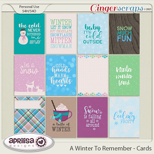 A Winter to Remember - Cards by Aprilisa Designs