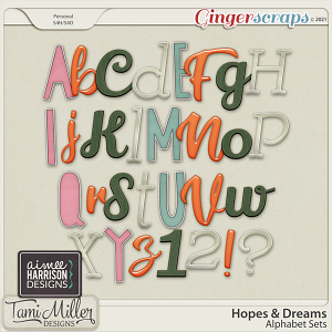 Hopes and Dreams Alpha Sets by Aimee Harrison and Tami Miller Designs