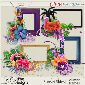 Sunset Skies: Cluster Frames by LDragDesigns