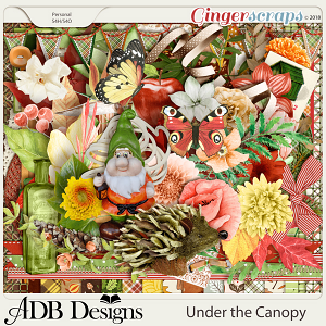 Under The Canopy Page Kit by ADB Designs