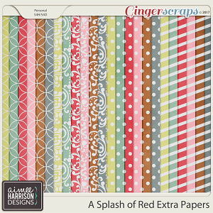 A Splash of Red Extra Papers by Aimee Harrison