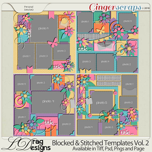 Blocked & Stitched Templates Vol.2 by LDragDesigns