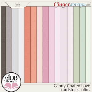 Candy-Coated Love Solid Papers by ADB Designs