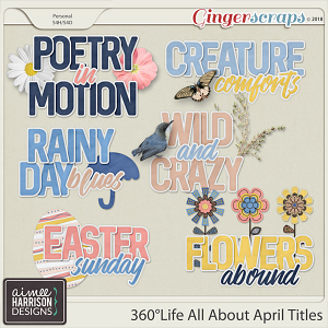 360°Life All About April Titles by Aimee Harrison