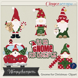 Gnome for the Holidays Clipart