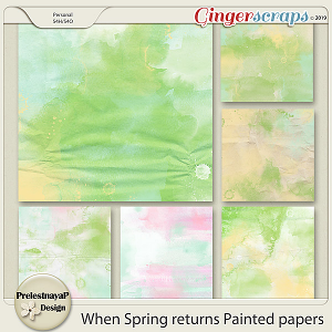 When Spring returns Painted papers
