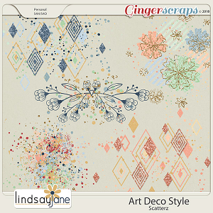 Art Deco Style Scatterz by Lindsay Jane