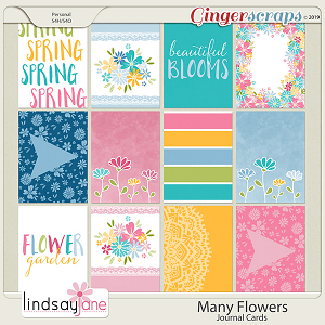 Many Flowers Journal Cards by Lindsay Jane