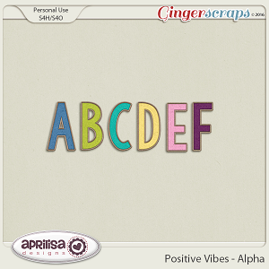 Positive Vibes - Alpha by Aprilisa Designs