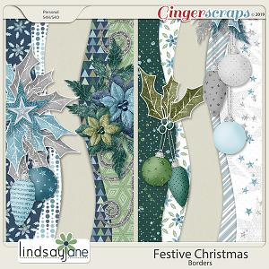 Festive Christmas Borders by Lindsay Jane