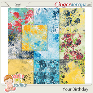 Your Birthday Shabby Chic BG