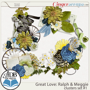 Great Love: Ralph & Meggie Clusters Set 01 by ADB Designs
