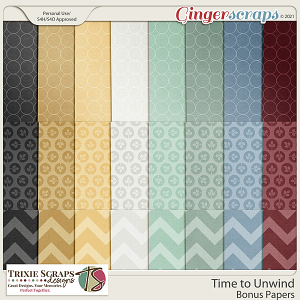 Time to Unwind Bonus Papers by Trixie Scraps Designs