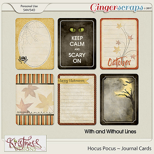 Hocus Pocus Journal Cards