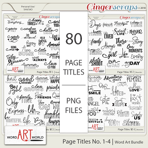 Page Titles No 1-4 Word Art Bundle