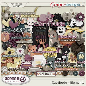 Cat-titude - Elements by Aprilisa Designs