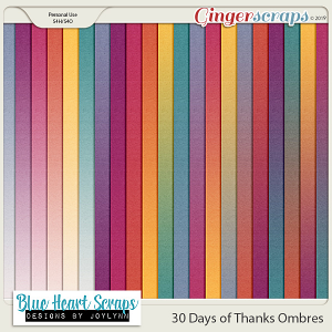 30 Days of Thanks Ombre Papers
