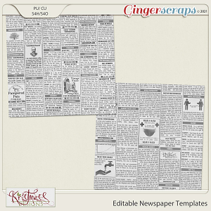 CU Editable Newspaper Templates