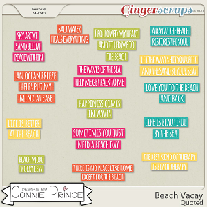 Beach Vacay - Quoted by Connie Prince
