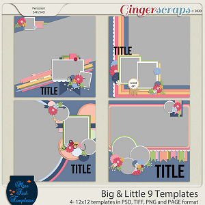 Big & Little 9 Templates by Miss Fish Templates
