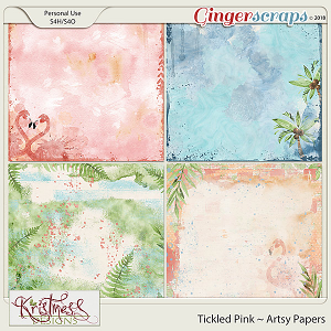 Tickled Pink Artsy Papers