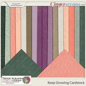 Keep Growing Cardstock by Trixie Scraps Designs