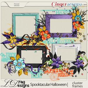 Spooktacular Halloween: Cluster Frames by LDragDesigns