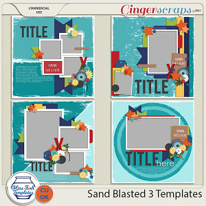 CU - Sand Blasted 3 Templates by Miss Fish