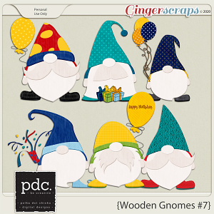Polka Dot Chicks: Wooden Gnomes #7