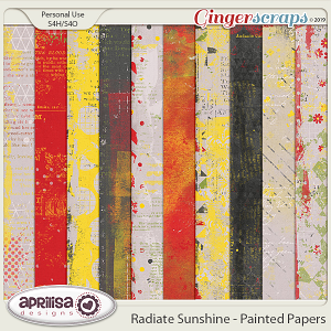 Radiate Sunshine - Painted Papers by Aprilisa Designs