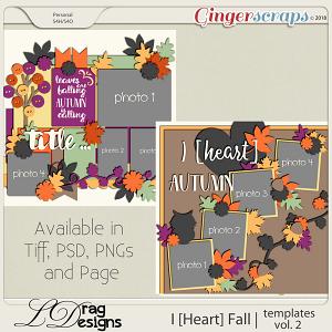 I [Heart] Fall: Templates Vol. 2 by LDragDesigns