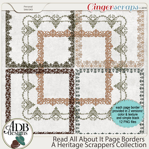 Read All About It Page Borders by ADB Designs