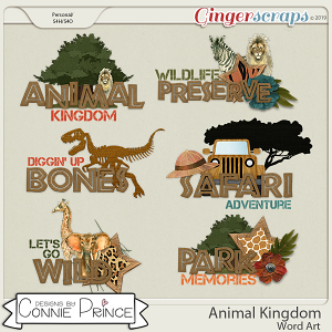 Animal Kingdom - Word Art Pack by Connie Prince