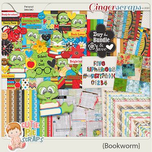 Bookworm Bundle By Cutie Pie Scraps