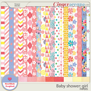 Baby shower: girl - papers