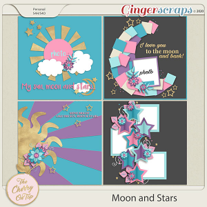 The Cherry On Top:  Moon and Stars Templates
