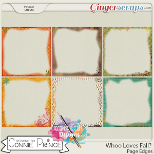 Whoo Loves Fall?  - Page Edges by Connie Prince & Adrienne Skelton