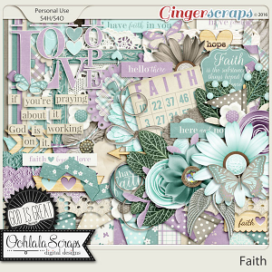 Faith Digital Scrapbooking Kit