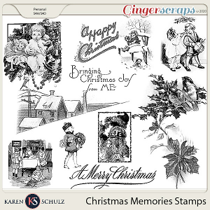 Christmas Memories Stamps by Snickerdoodle Designs