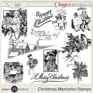Christmas Memories Stamps by Karen Schulz