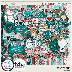 Winter Fun Page Kit by JB Studio and Tita