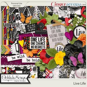 Live Life Digital Scrapbook Kit