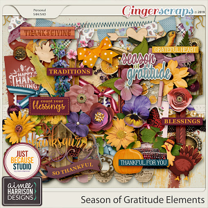 Season of Gratitude Elements Pack by Aimee Harrison and JB Studio