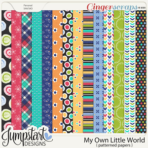 My Own Little World {Patterned Papers} by Jumpstart Designs