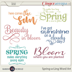 Spring-a-Ling Word Art by Snickerdoodle Designs