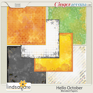 Hello October Blended Papers by Lindsay Jane