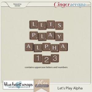 Let's Play Alpha by Blue Heart Scraps and JoCee Designs