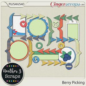 Berry Picking ACCENTS by Heather Z Scraps